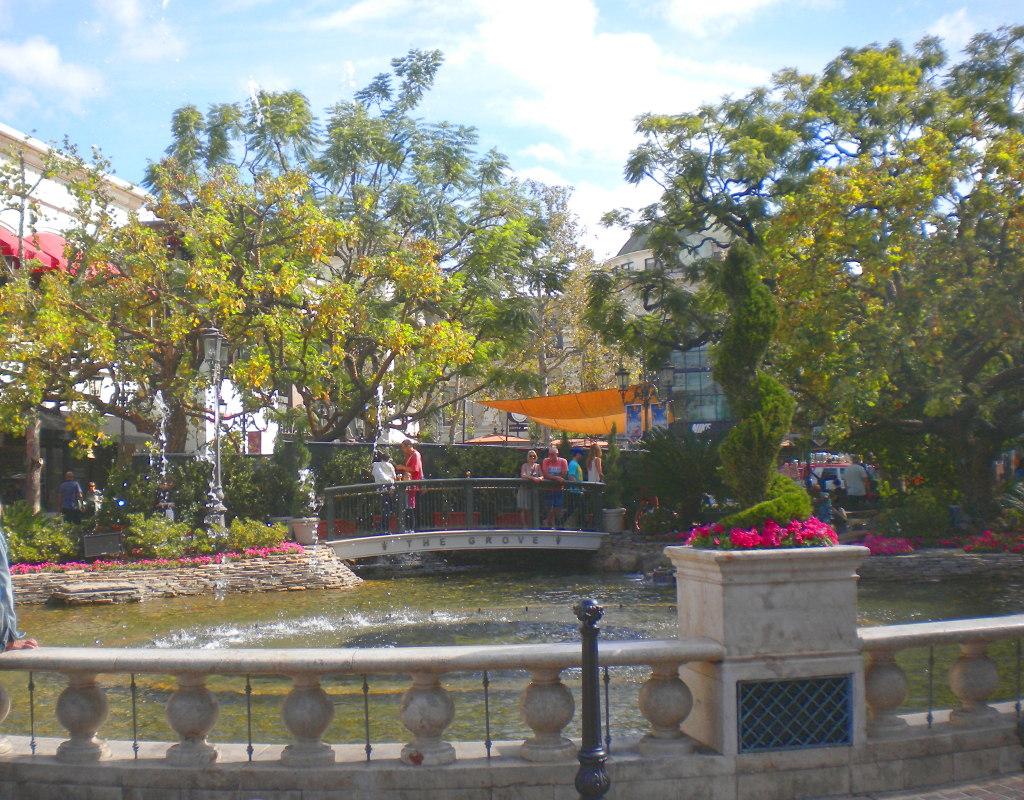 La fontana del mall The Grove