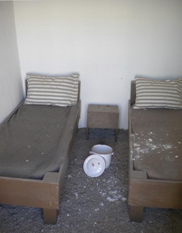 Una delle celle della prigione di Yuma