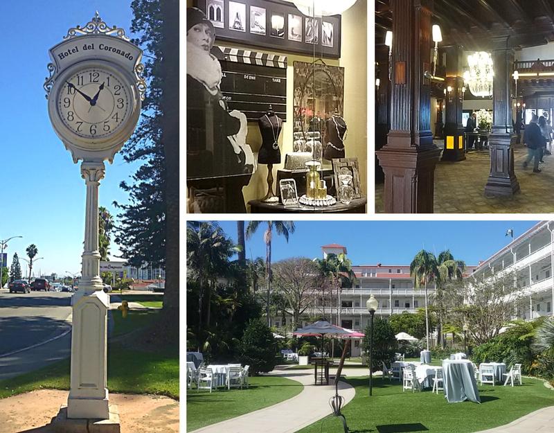 Un collage di alcuni angoli dell'Hotel Coronado