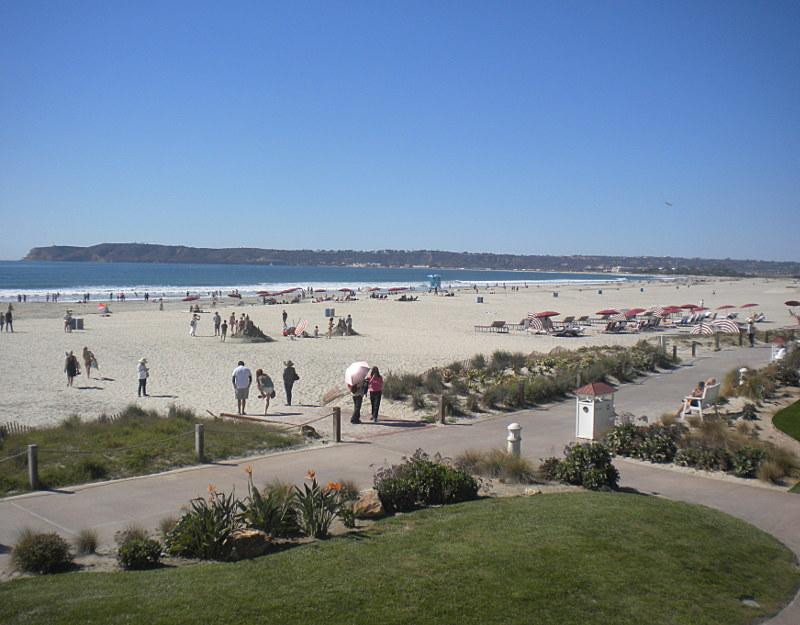 La spiaggia dell'Hotel Coronado