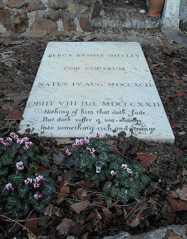 La tomba di Percy Shelley