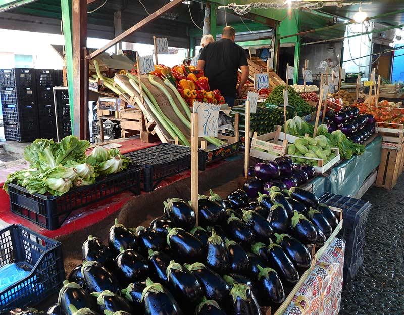 Verdure al mercato di Ballarò