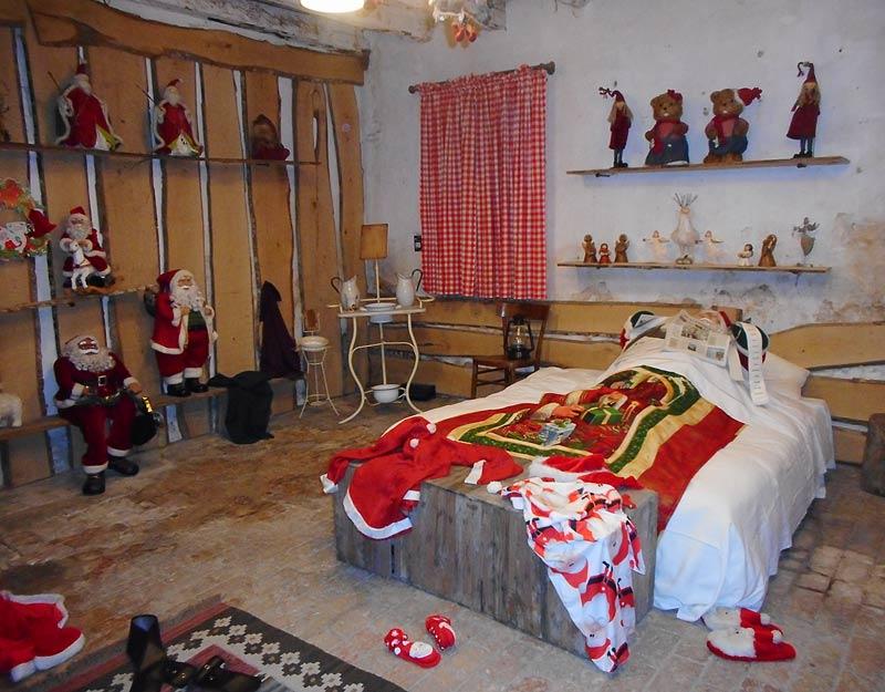 La camera da letto di Babbo Natale