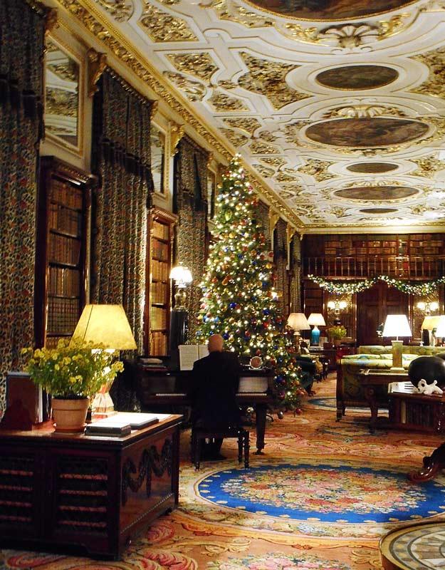 La biblioteca di Chatsworth House
