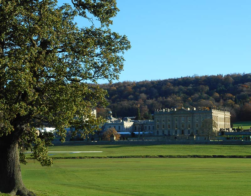 Vista di Chatsworth House