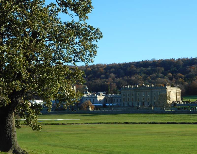 Vista di Chatsworth House