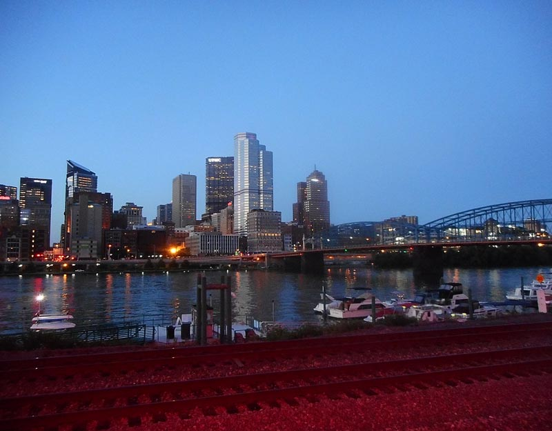 La skyline di Pittsburgh