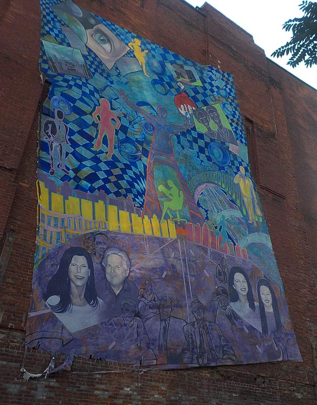 Street art in centro a Pittsburgh
