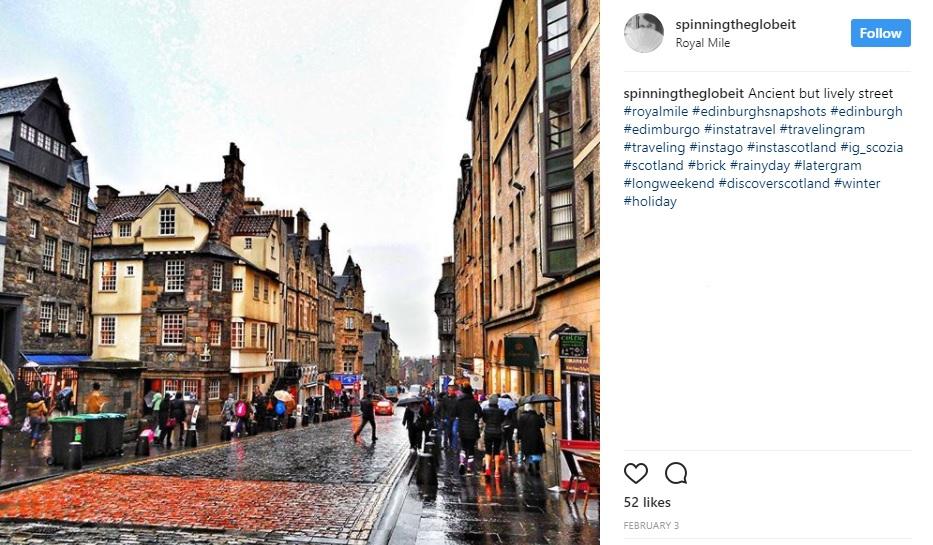 Edimburgo su Instagram