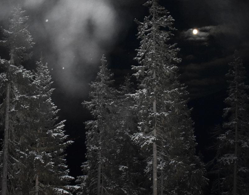La luna sul monte Katschberg