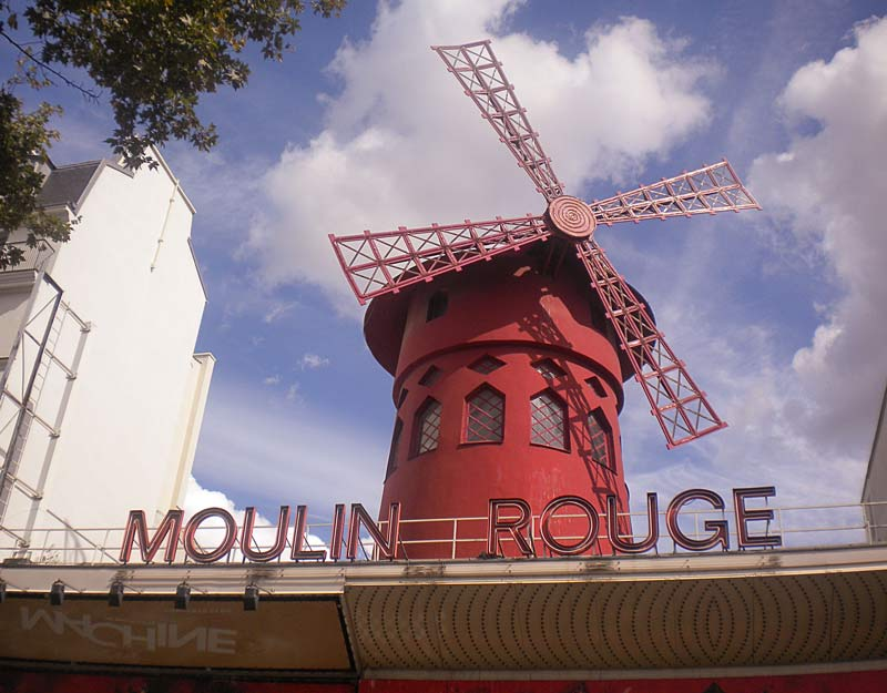 Il Moulin Rouge a Pigalle