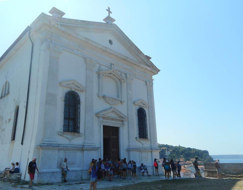 La chiesa di San Giorgio a Pirano