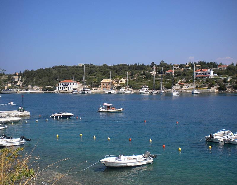 Barche a Fiskardo a Cefalonia