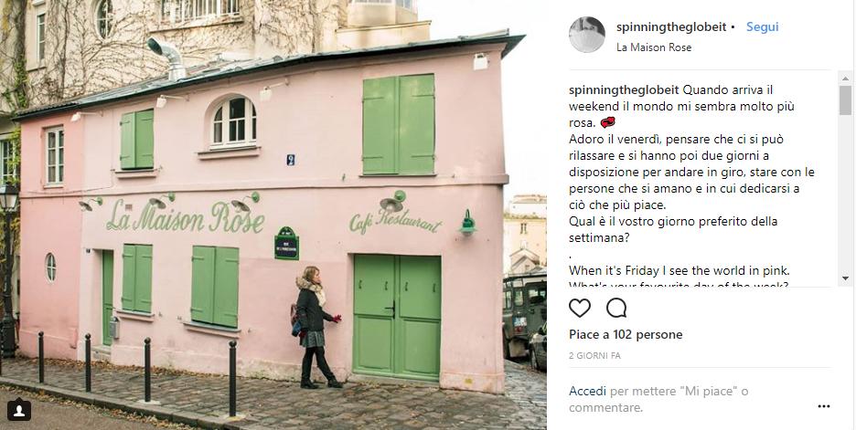 La Maison Rose su Instagram