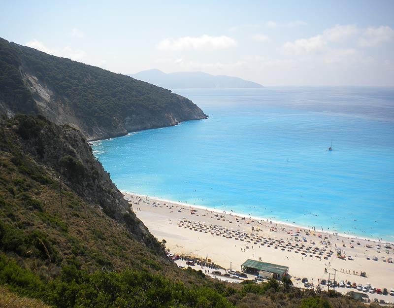 Myrtos Beach dall'alto