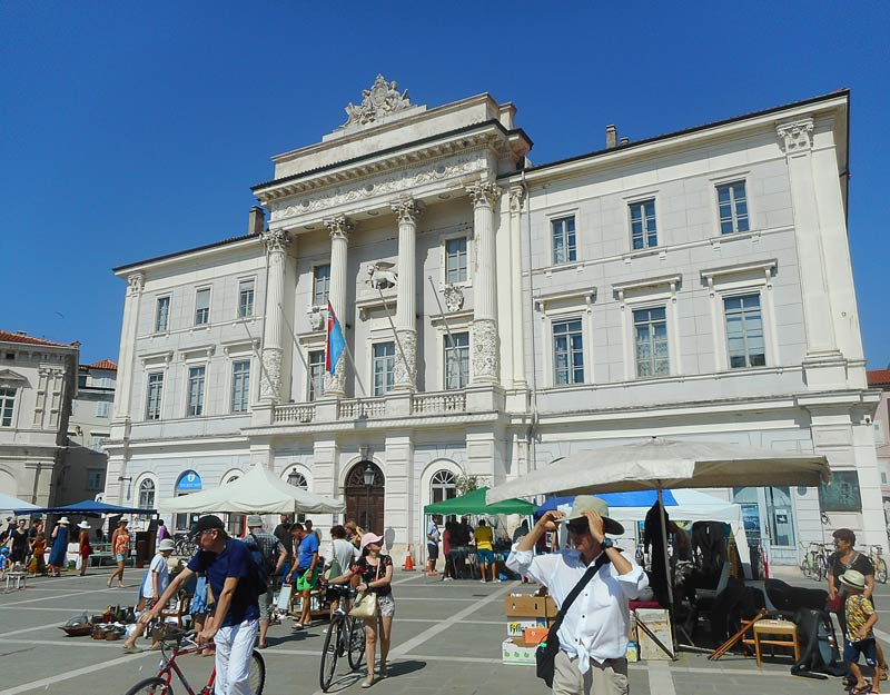 Piazza Tartini a Pirano