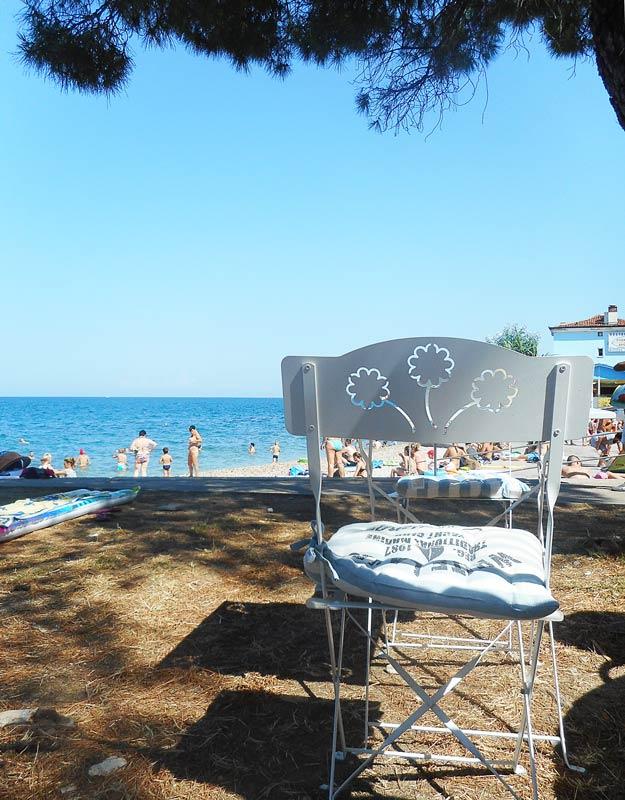 La spiaggia di Pirano