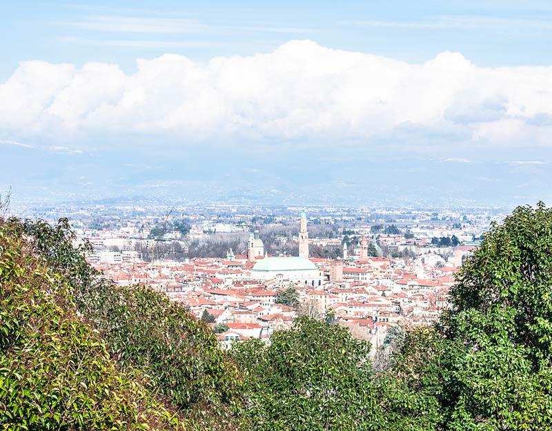 La vista su Vicenza da Monte Berico