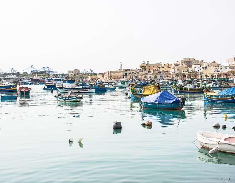 Il porto di Marsaxlokk