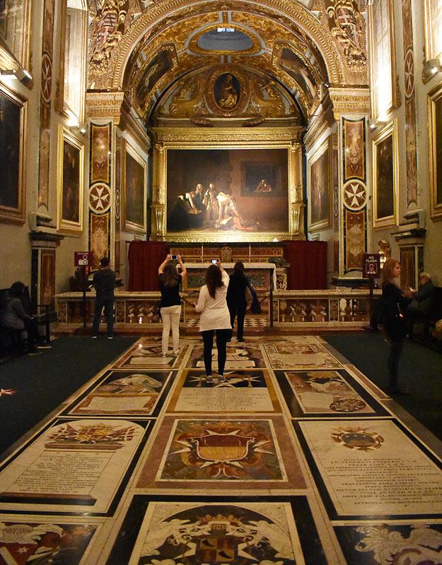 Opera del Caravaggio nella Co-Cattedrale de La Valletta