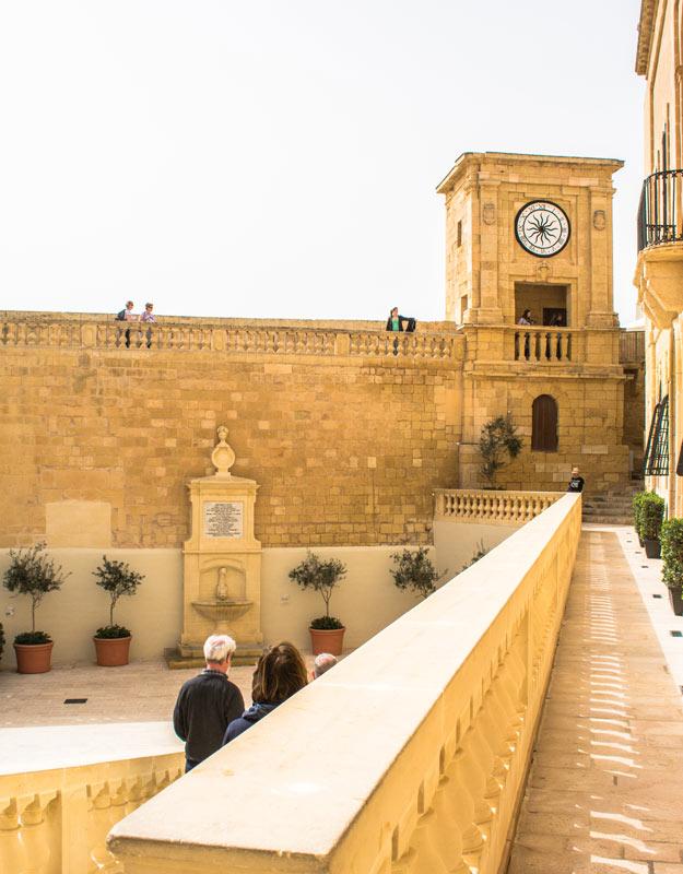 La cittadella a Victoria, sull'isola di Gozo