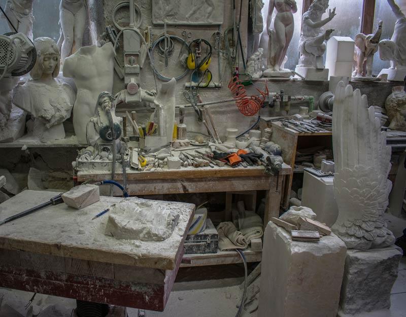 Strumenti per lavorare l'alabastro