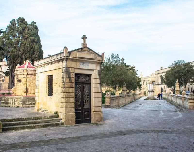 Una via centrale di Rabat a Malta