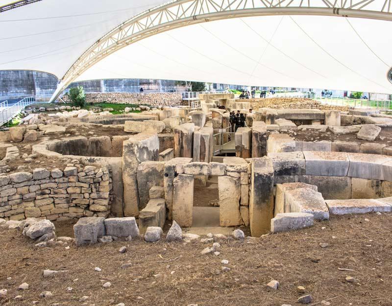 Vista sui templi di Tarxien