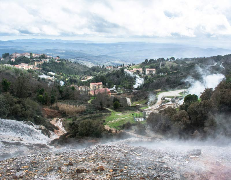 Il parco Le Biancane a Monterotondo Marittimo