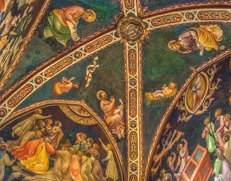 Affresco all'interno della Rocca di Vignola