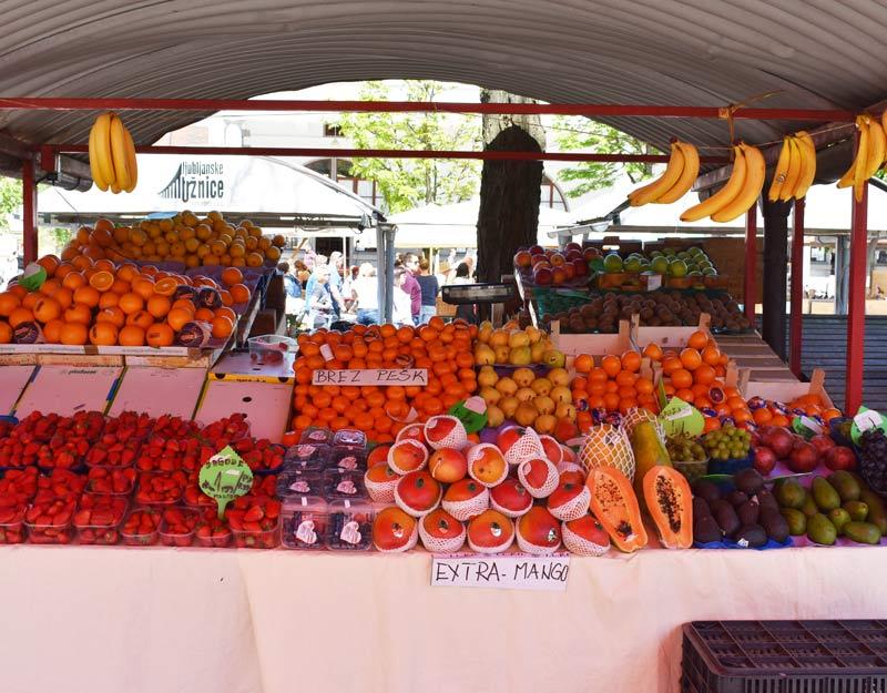 Frutta al mercato di Lubiana