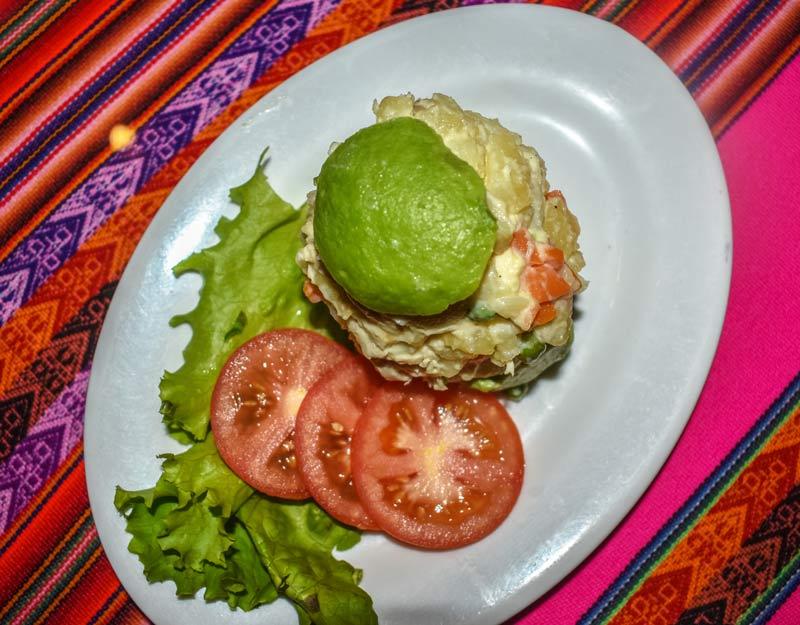 Cosa mangiare in Perù: Palta a la reina