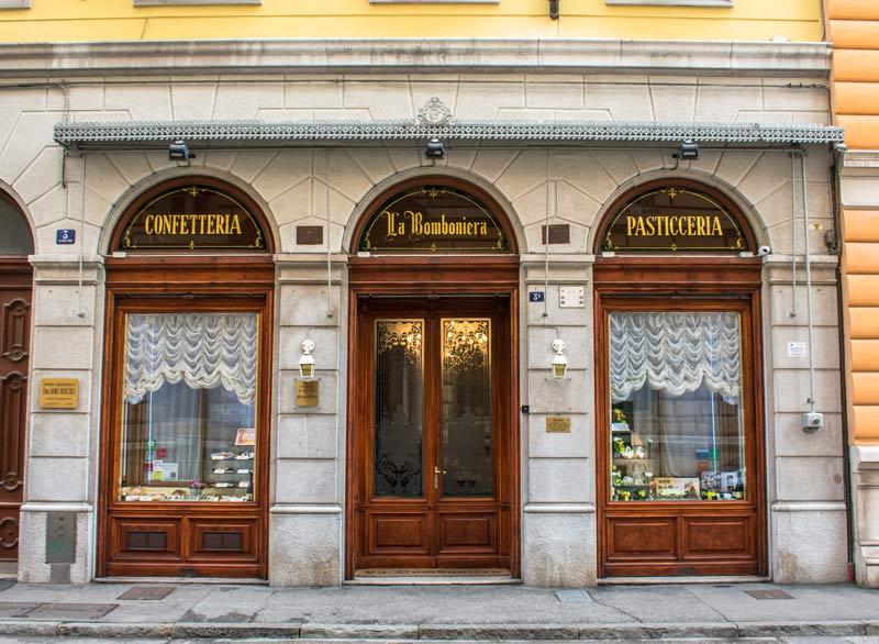 Una pasticceria storica di Trieste