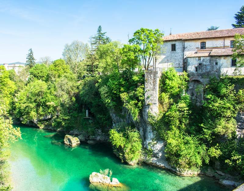 Il fiume Natisone visto da Ponte del Diavolo a Cividale