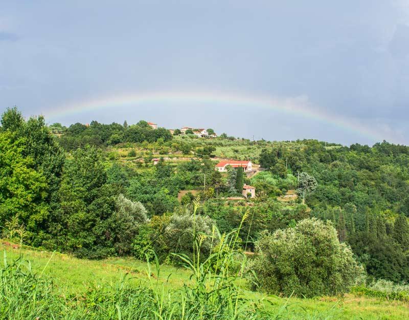 L'arcobaleno a Grisignana