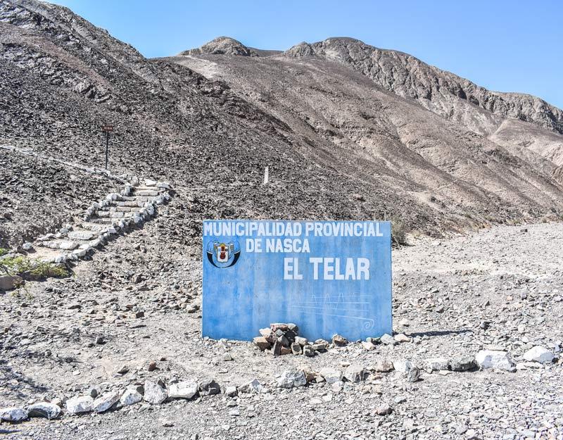 Il sito di El Telar a Nazca