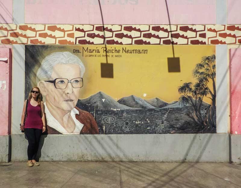 Murales dedicato a Maria Reiche a Nazca