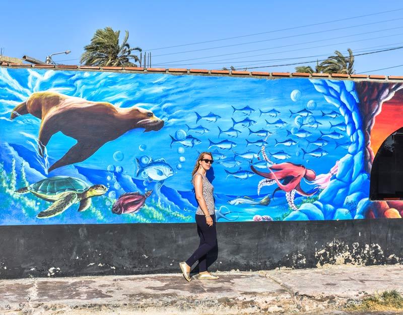 Un murales a Paracas