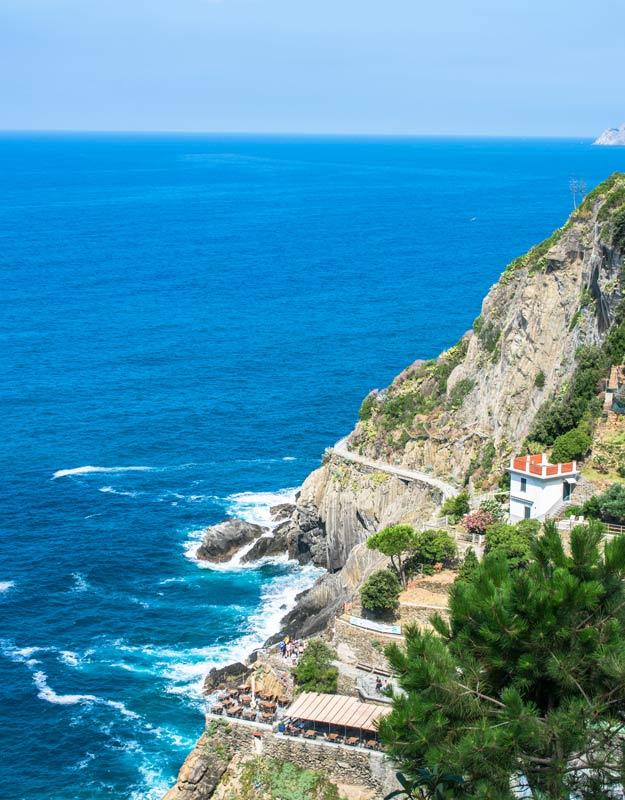 Il panorama da Riomaggiore
