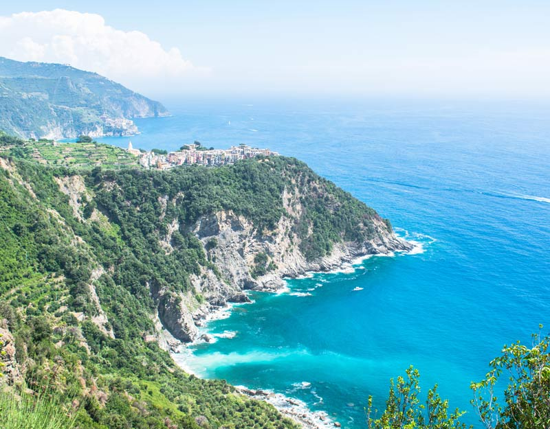 La vista lungo il sentiero tra Corniglia e Vernazza