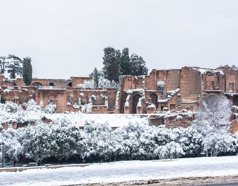 Il luogo più bello mai visitato: Roma sotto la neve