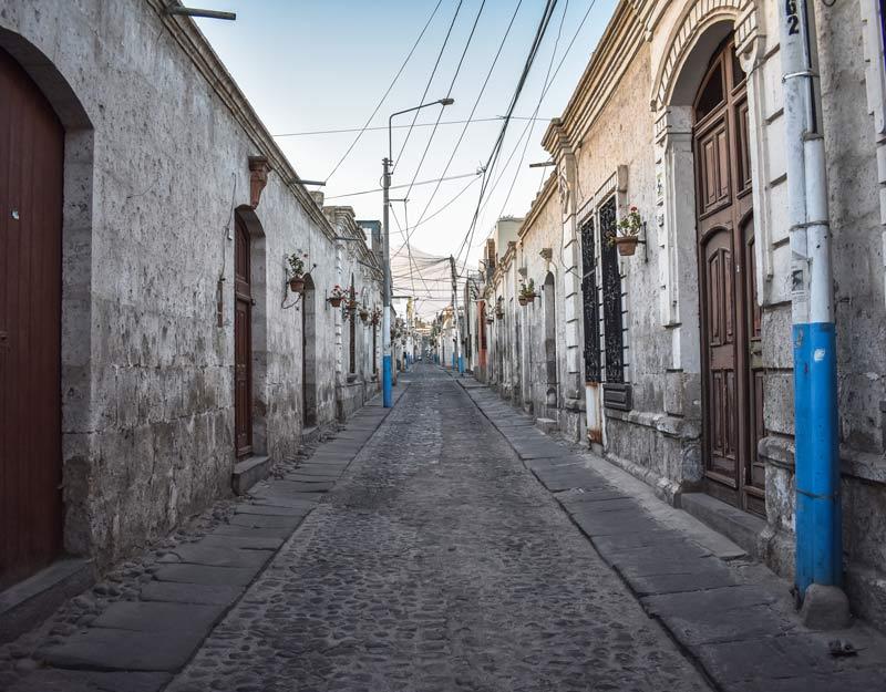 Una via di Arequipa