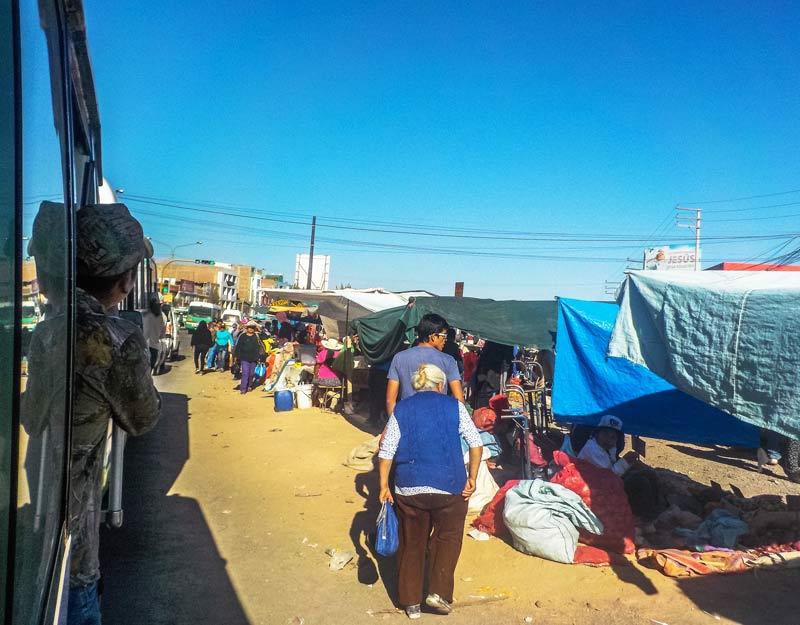 Il mercato di Yura in Perù