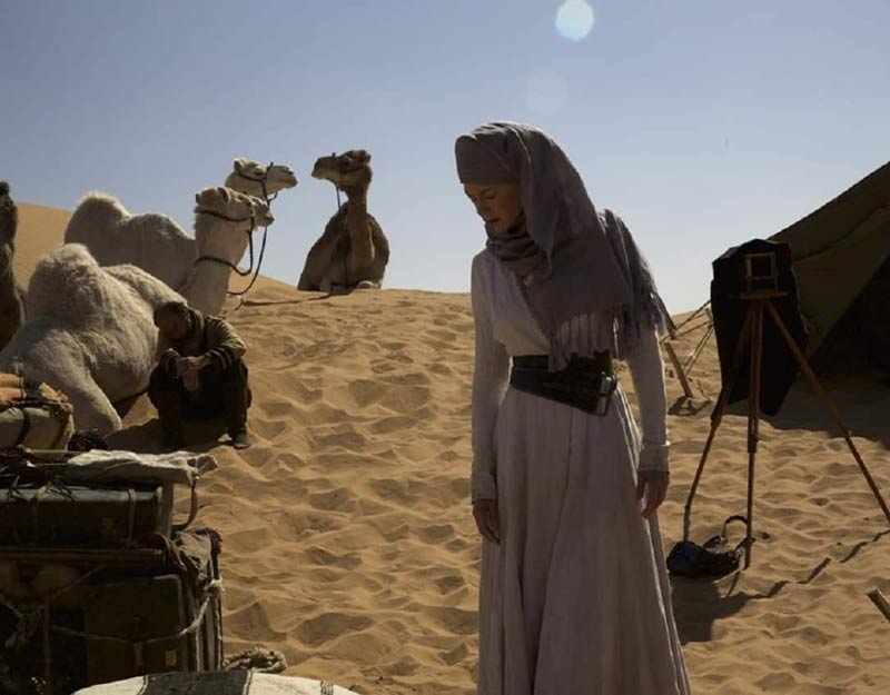 Una scena del film Queen of the Desert
