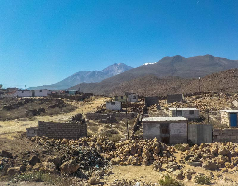 Le zone attorno a Yura, Perù