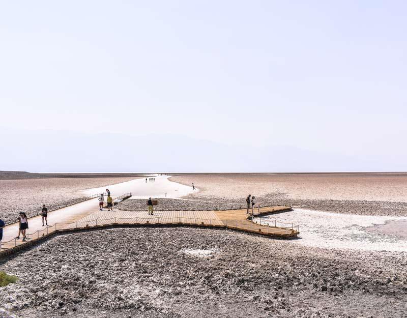 Il bacino di Badwater nella Death Valley