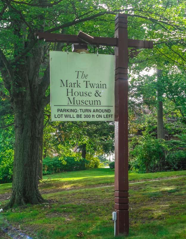 L'insegna della casa-museo di Mark Twain