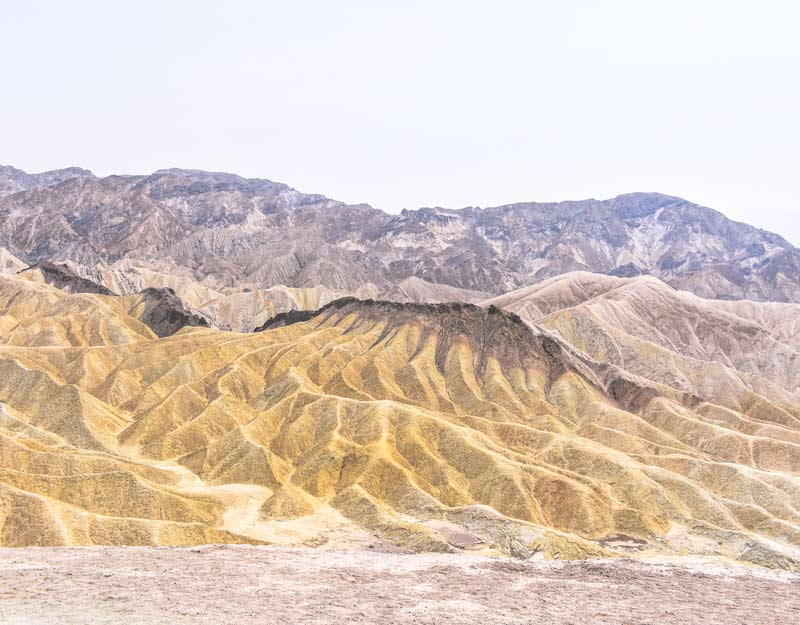 Zabriskie Point nella Valle della Morte