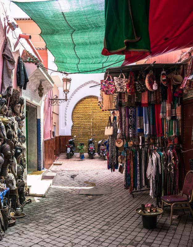 Parte del souk di Marrakech