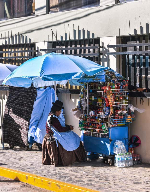 Venditrice peruviana